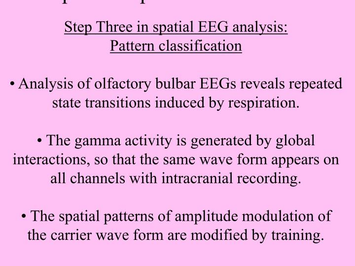 Step Three: pattern classification