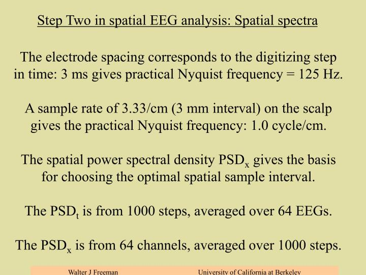 Step Three: Spatial spectral analysis