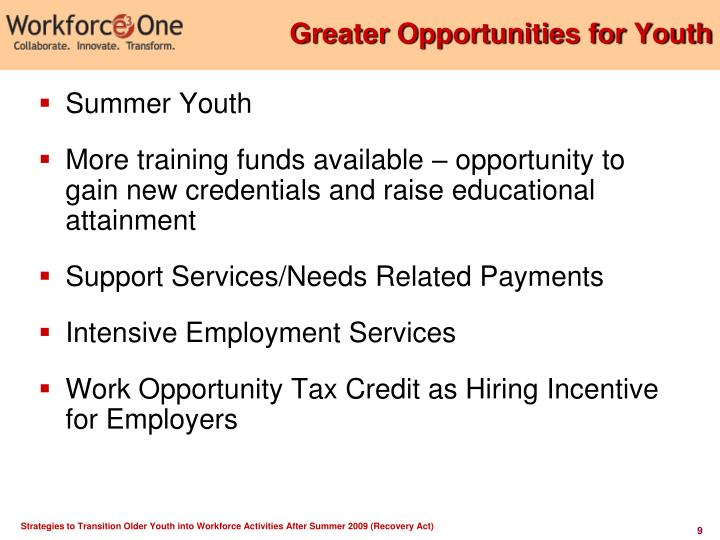 Greater Opportunities for Youth