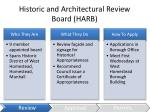 historic and architectural review board harb