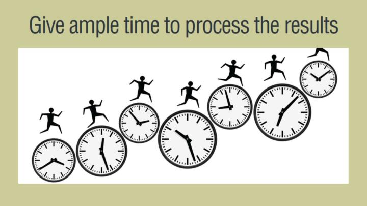 Give ample time to process the results