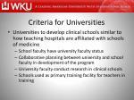 criteria for universities3