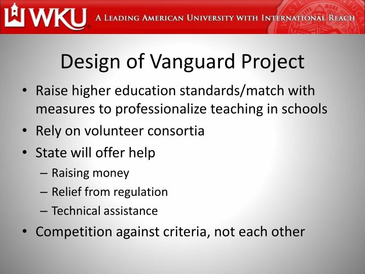 Design of Vanguard Project