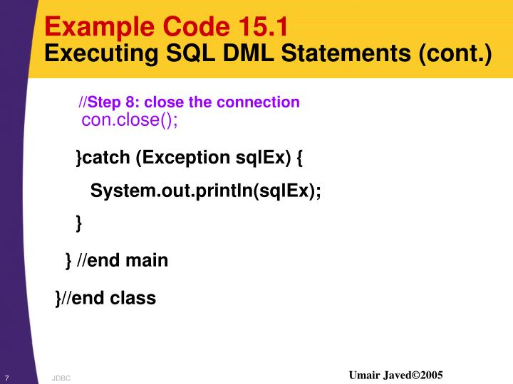 Example Code 15.1