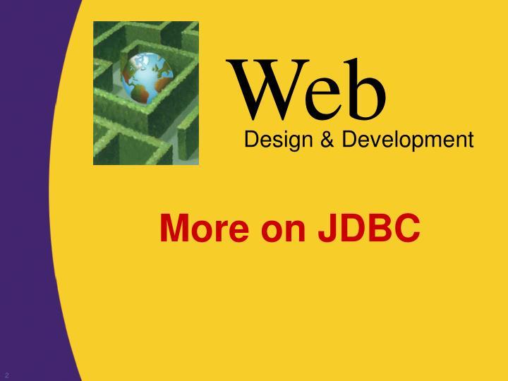 More on JDBC