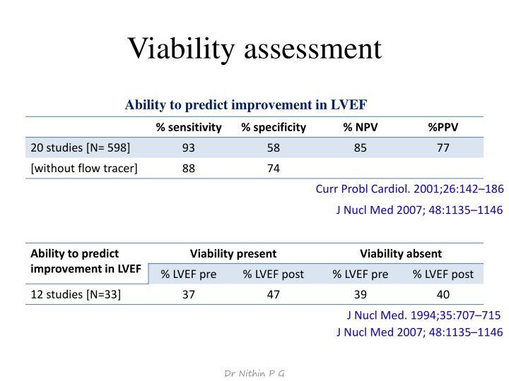 Viability assessment