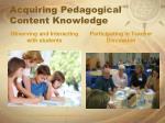 acquiring pedagogical content knowledge