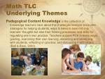 math tlc underlying themes2