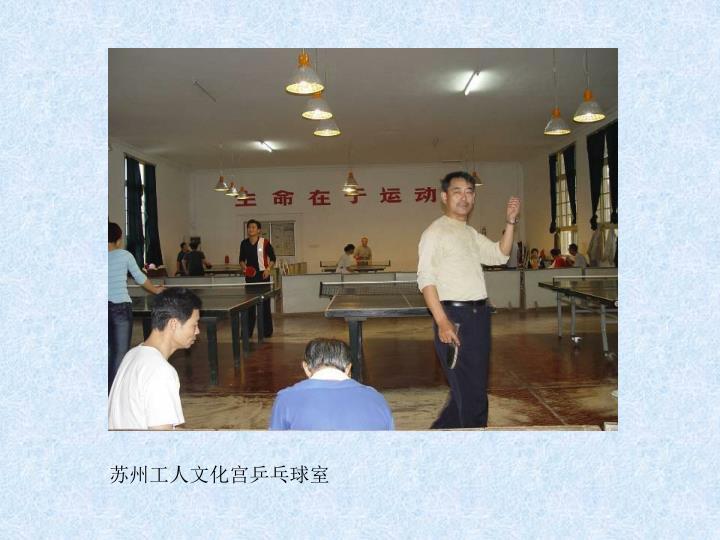 苏州工人文化宫乒乓球室