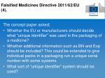 falsified medicines directive 2011 62 eu 4