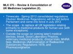 mlx 375 review consolidation of uk medicines legislation 2