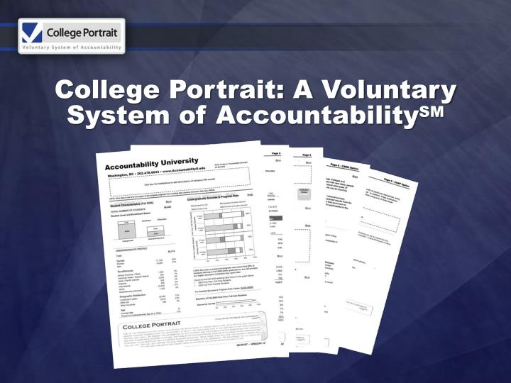 College Portrait: A Voluntary System of