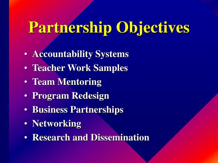 Partnership Objectives