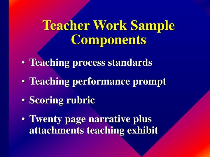 Teacher Work Sample Components