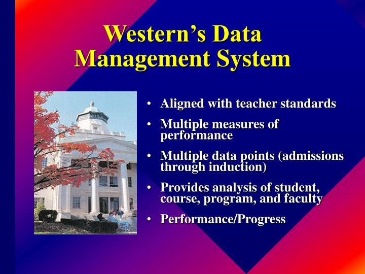 Western's Data Management System