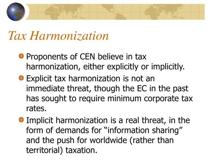 Tax Harmonization
