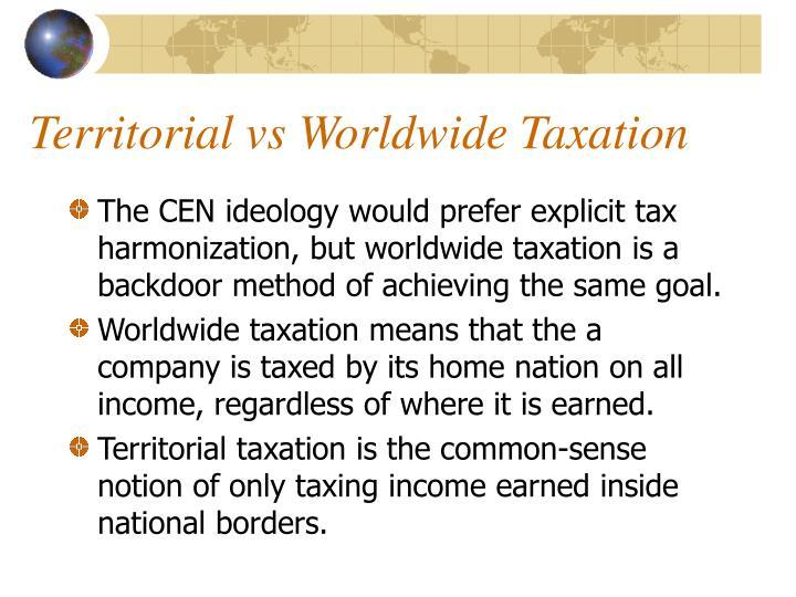 Territorial vs Worldwide Taxation