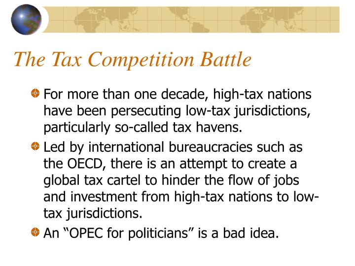The Tax Competition Battle