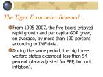 the tiger economies boomed