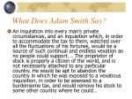 what does adam smith say