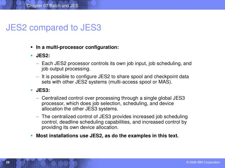JES2 compared to JES3