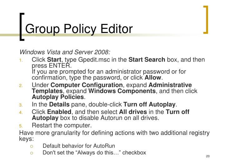 Group Policy Editor