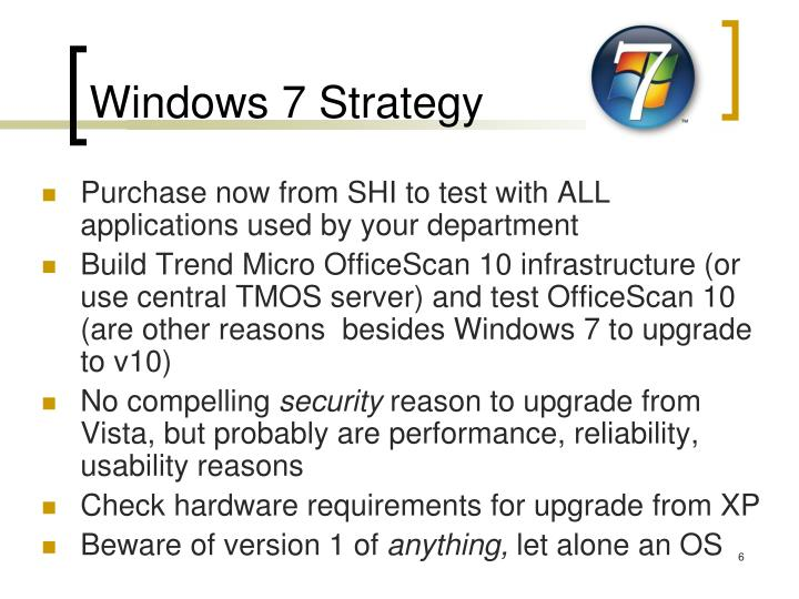 Windows 7 Strategy