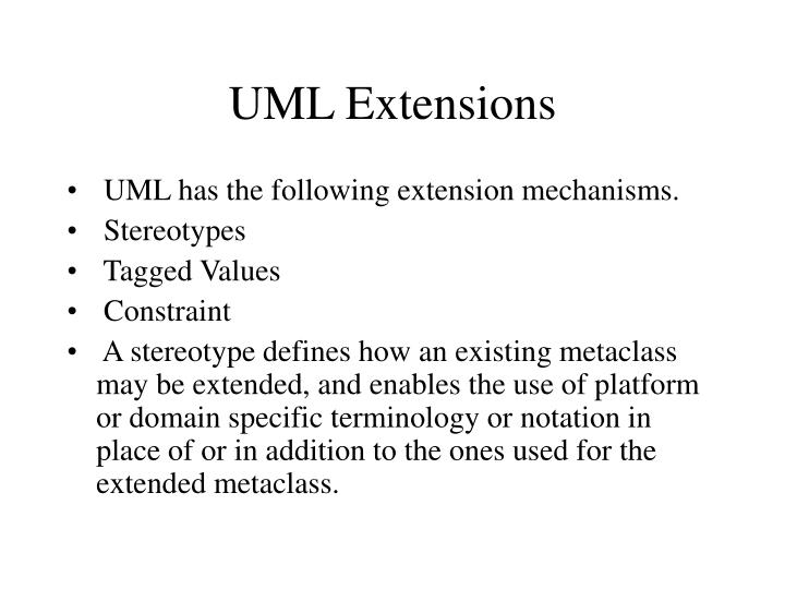 UML Extensions