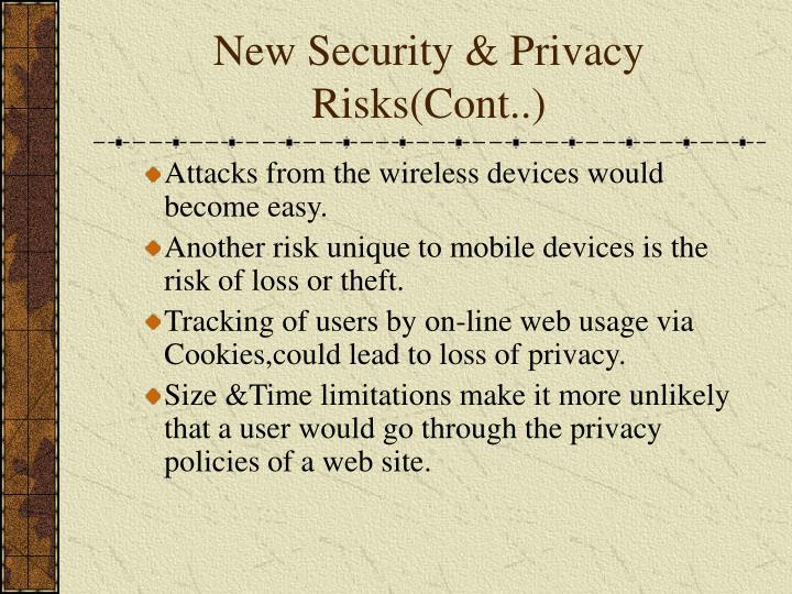 New Security & Privacy Risks(Cont..)