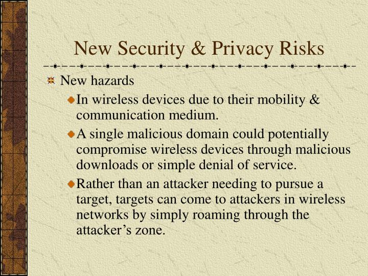 New Security & Privacy Risks