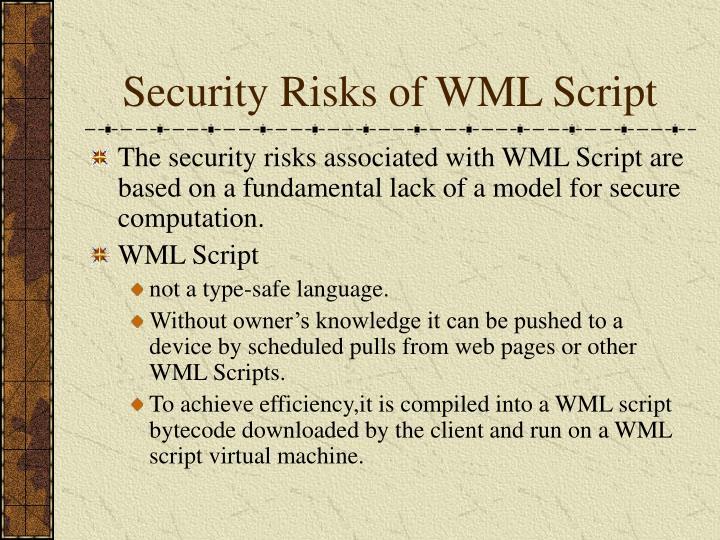 Security Risks of WML Script