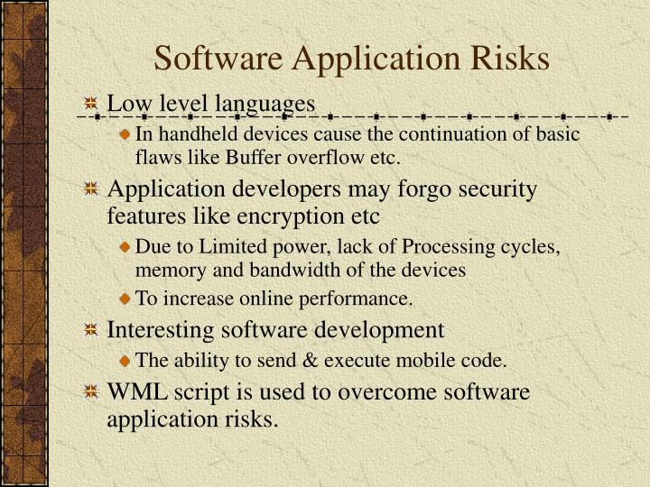 Software Application Risks