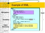 example of wml