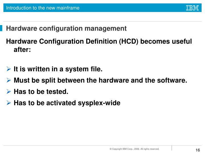 Hardware configuration management