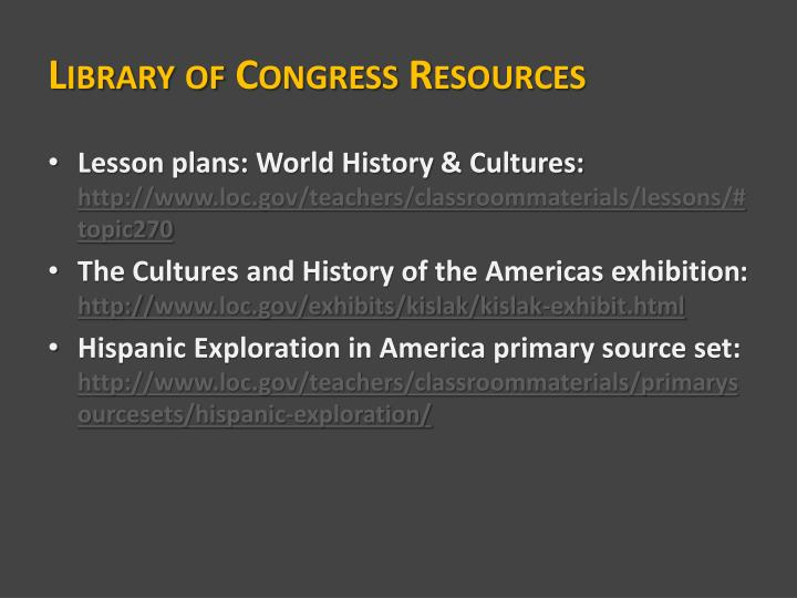 Library of Congress Resources