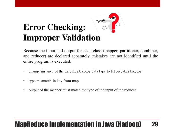 Error Checking: