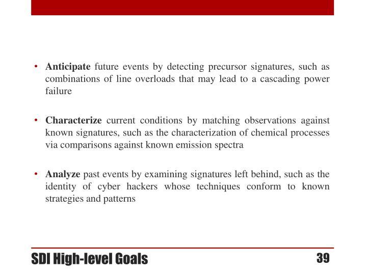 SDI High-level Goals