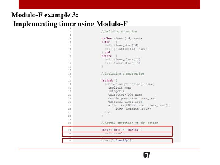 Modulo-F example 3: