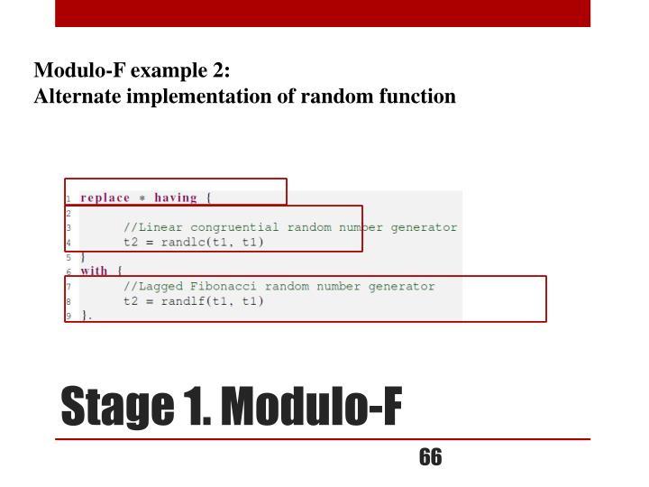 Modulo-F example 2: