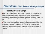 decisions two sexual identity scripts3