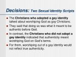 decisions two sexual identity scripts7