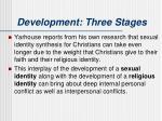 development three stages1