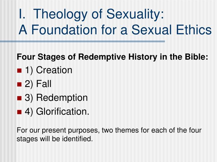 I.  Theology of Sexuality: