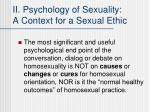 ii psychology of sexuality a context for a sexual ethic