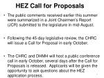 hez call for proposals