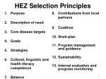 hez selection principles
