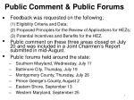 public comment public forums