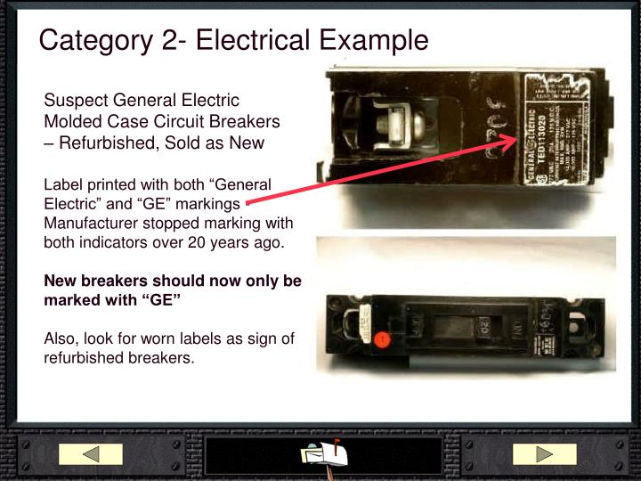 Category 2- Electrical Example