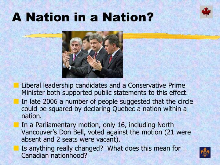 A Nation in a Nation?