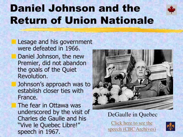 DeGaulle in Quebec